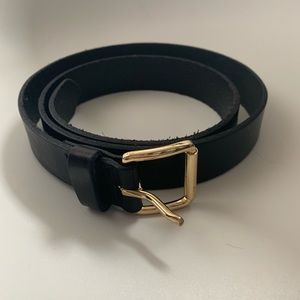 Banana Republic Small Black Leather Belt